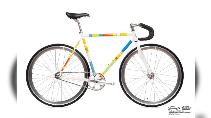 Fahrrad im Simpsons-Look