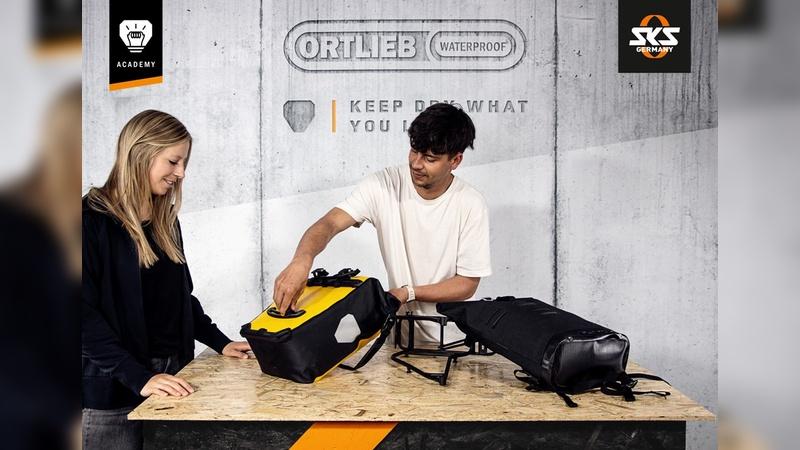 Ortlieb und SKS gehen gemeinsam auf Schulungstour.