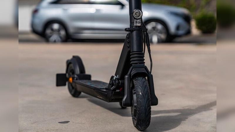 Der E-Scooter ist eine Kooperation mit Micro-Mobility Systems