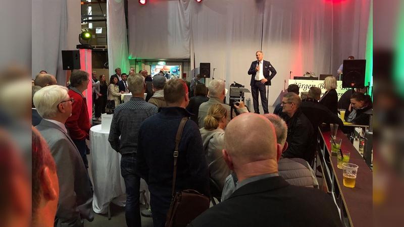In seiner Jubiläumsansprache betonte Böttcher-Inhaber Hauke Niemann die Bedeutung der langjährigen Partnerschaften zu Händlern und Lieferanten.