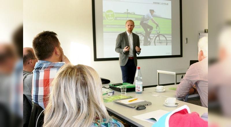 Seit Monatsbeginn tourt Derby Cycle mit Schulungen zum Thema Dienstrad