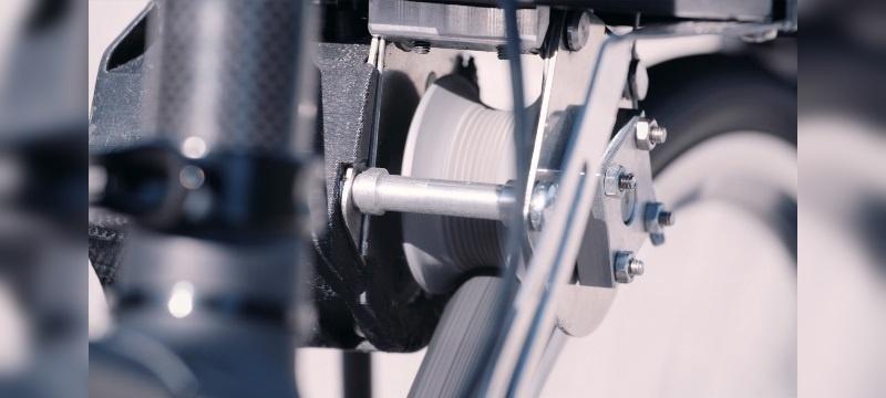 Die Kraft wird direkt auf den Reifen übertragen.