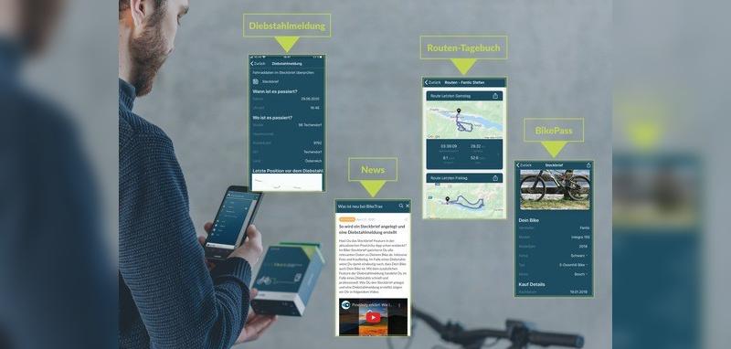Neue Funktionen erweitern die BikeTrax-App