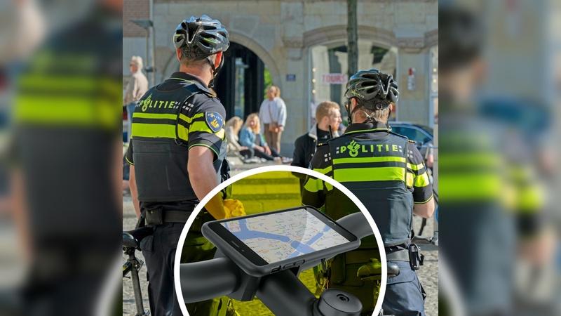 Auf Radstreife mit der niederländischen Polizei.