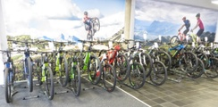 Aus einer E-Bike-Reihe wird eine verkaufswirkende Verkaufsfläche