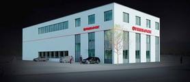 So soll das Produktions- und Logistikgebäude nach Fertigstellung aussehen