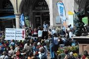Stefan Herrmann war einer der Redner bei der Biker-Demo in München