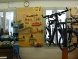 Die Kundenwerkstatt ist das Herzstück des Fahrradgeschäfts.